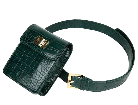 crocodile belt bag