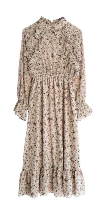 Rosé Flower Garden Long Dress