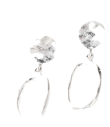 Appeal silver earrings