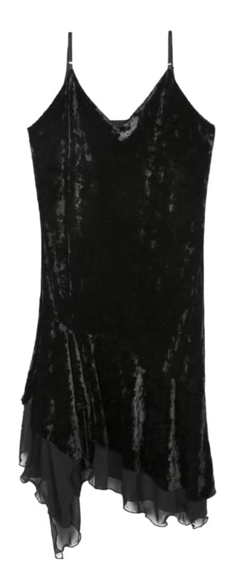 velvet chiffon sleeveless ops (2 color)