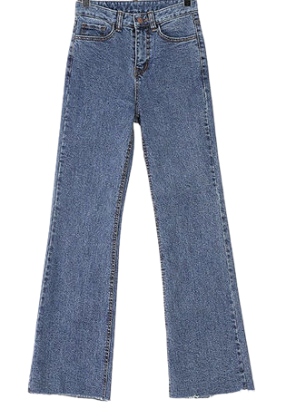Boots-cut denim pants