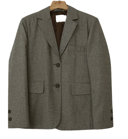 Mini Hound Tooth Wool Jacket