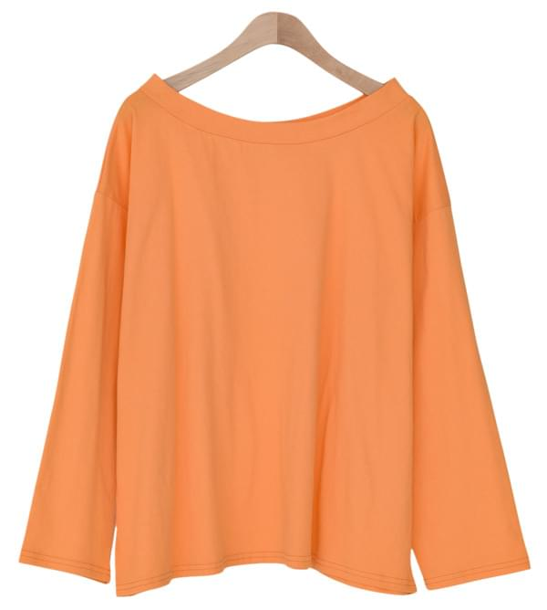 Loose Fit Cotton Off Shoulder Tee-tee