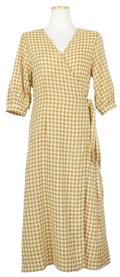 Nop check wrap dress