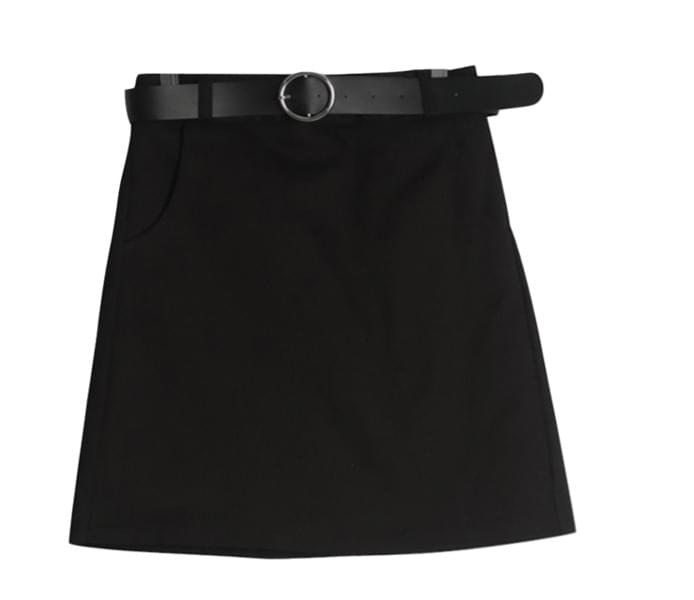 Daily Ring Belt Skirt
