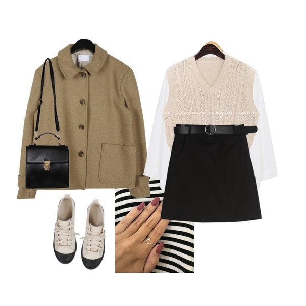 nail,daily monday Spring short collar jacket,AWAB 웨이스반오픈셔츠등을 매치한 코디