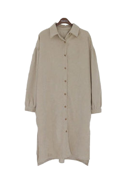 Corduroy purin shirt dress