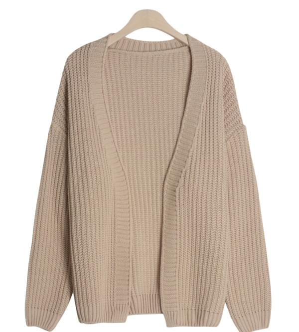 No button loose fit cardigan