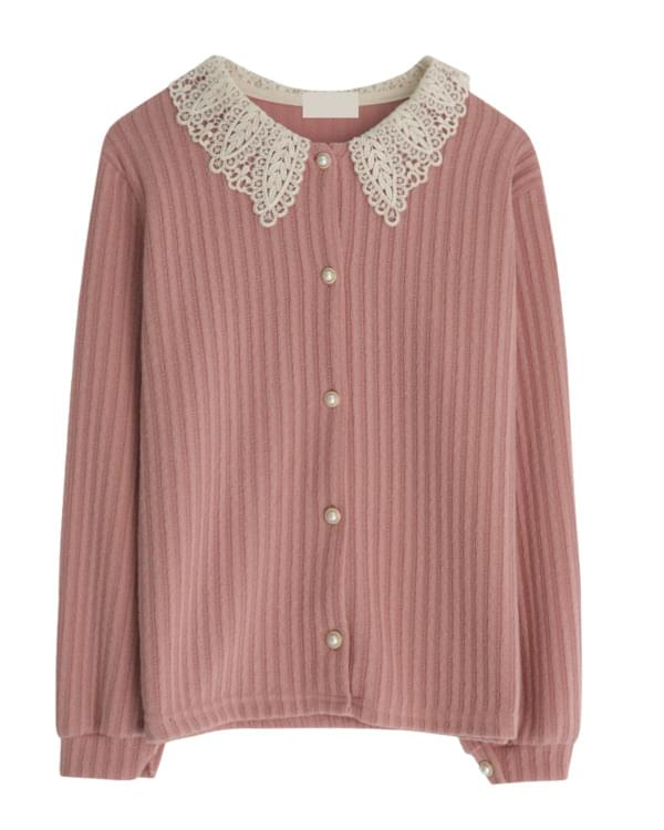 Leaves lace cardigan