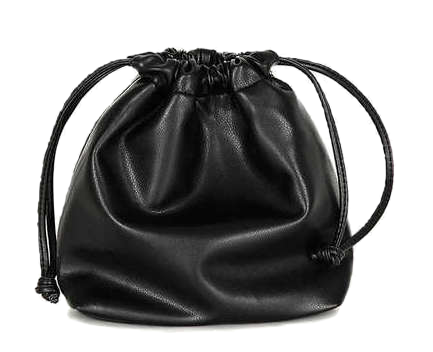soft leather mini bucket bag