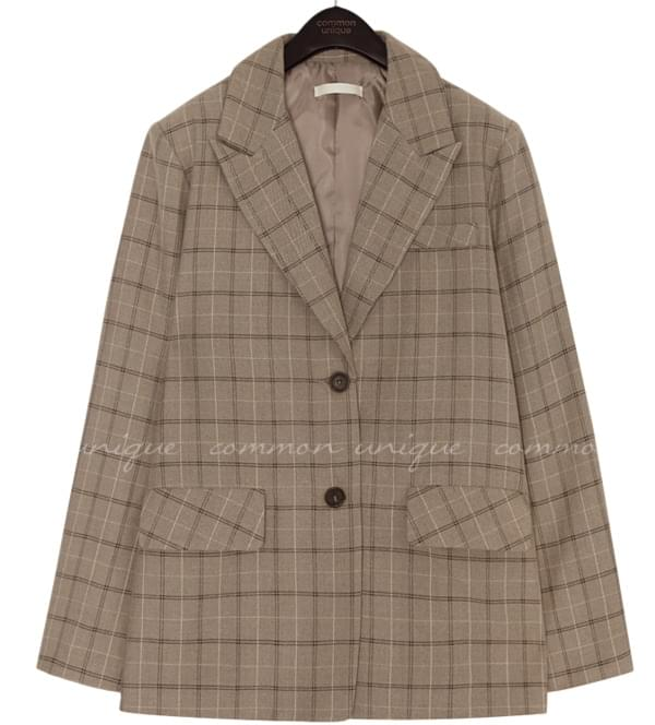 BOLT CHECK BOXY SINGLE JACKET