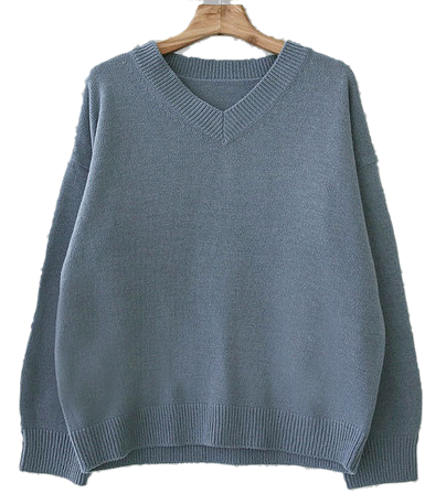 Spring V Neck Wool Knit