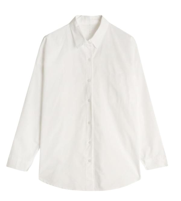 Course over cotton shirt