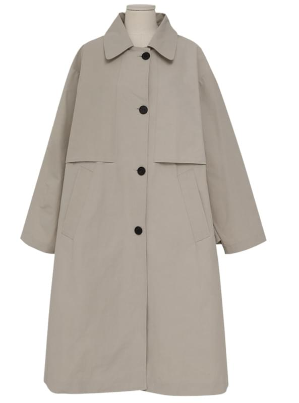 Made_outer-130_flap boxy trench coat_S 大衣外套