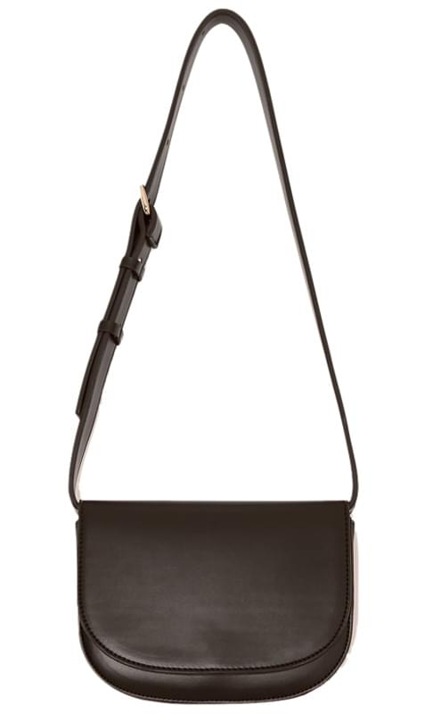 WALTZ 2 WAY HALF MOON LEATHER BAG