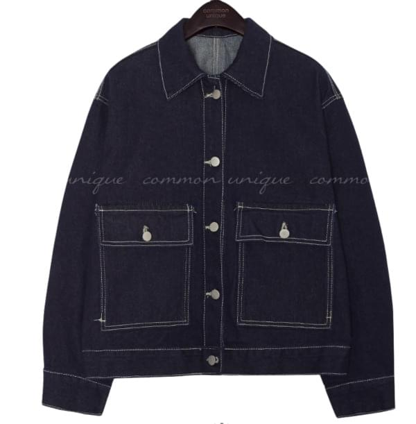 STITCH WIDE POCKET DENIM JACKET