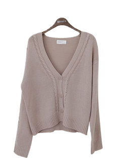 Cable Maybe V neck cardigan