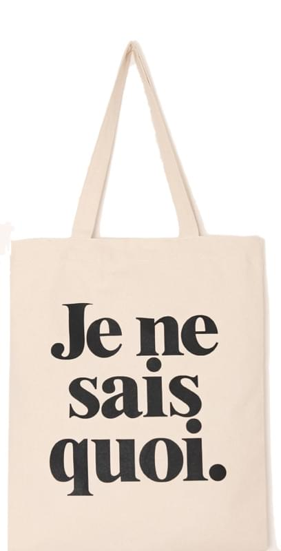 SIMPLE LETTERING COTTON BAG