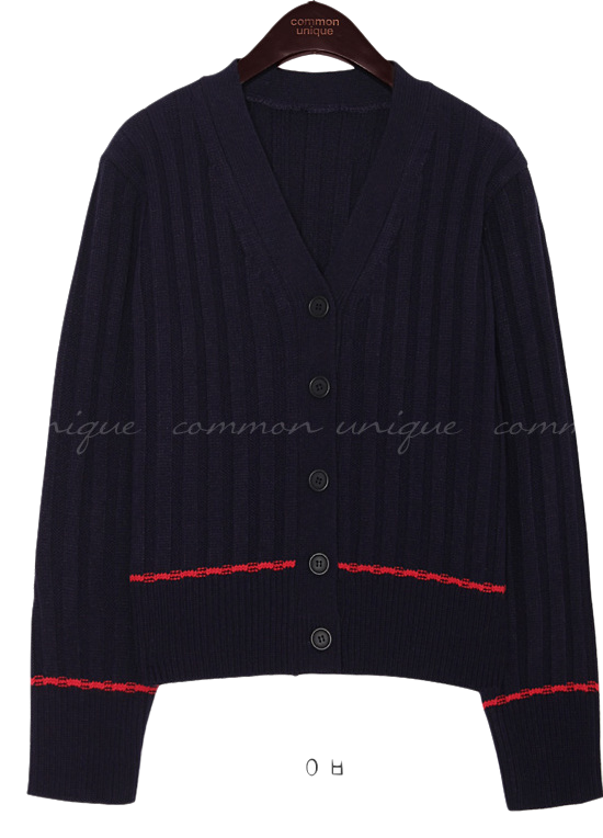 LAND WOOL GOLGI KNIT CARDIGAN
