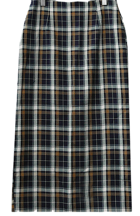 Nunetine check long skirt