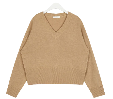hazel crop v-neck knit