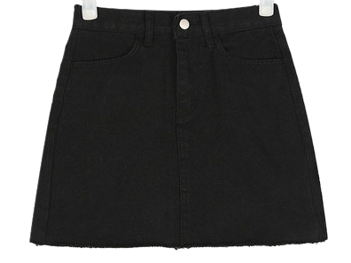 ladyish cotton mini skirt