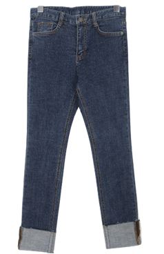 Boy roll-up denim P