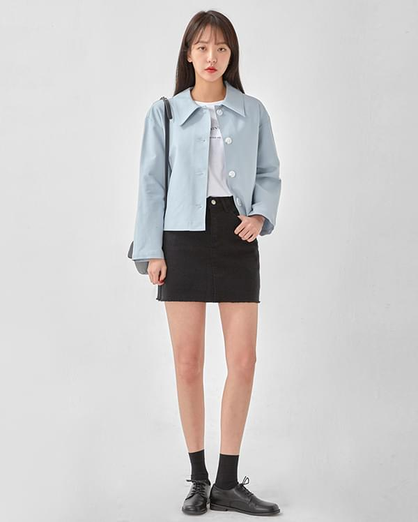 charming collar short jacket