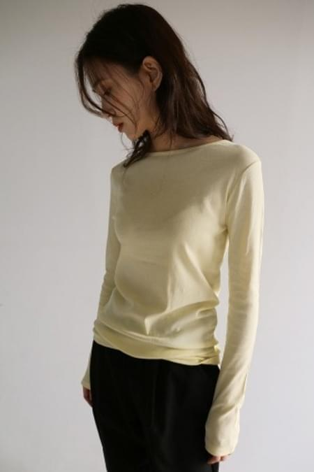round neck slim top