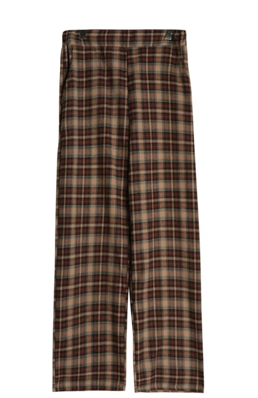 Square Multi-Check Pants