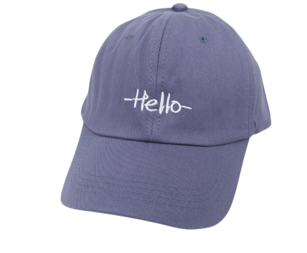 Simple hello ball cap 帽子