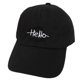 Simple hello ball cap
