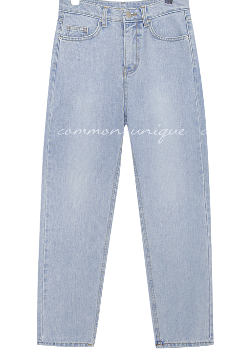 AILE STRAIGHT LIGHT DENIM PANTS