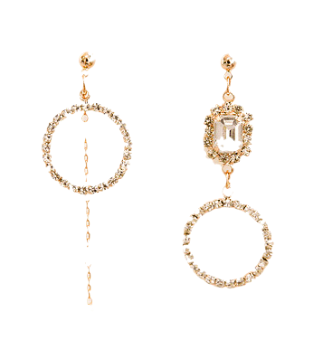 LEIRA CIRCLE UNBAL DROP EARRING