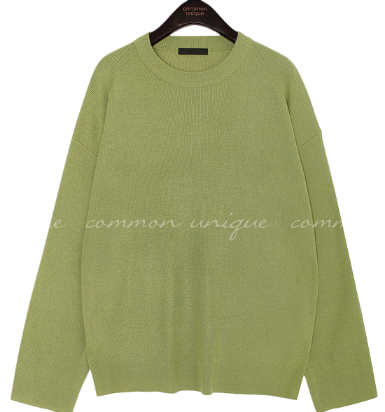 7 COLOR NATURAL ROUND NECK KNIT