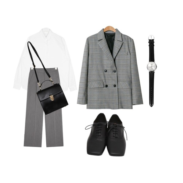 AIN all for straight slacks (s, m, l),From Beginning Classic soft square loafer_M (size : 230,235,240,245,250),AIN oxford daily color shirts등을 매치한 코디