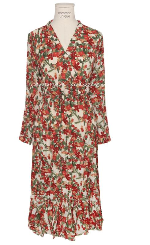 SANDY FLORAL CREASE LONG OPS