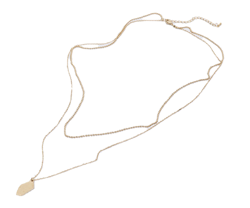Until layered necklace_K (size : one)