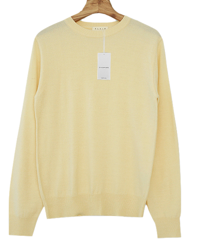 Self-produced / PBP. Cashmere lyric pit knit
