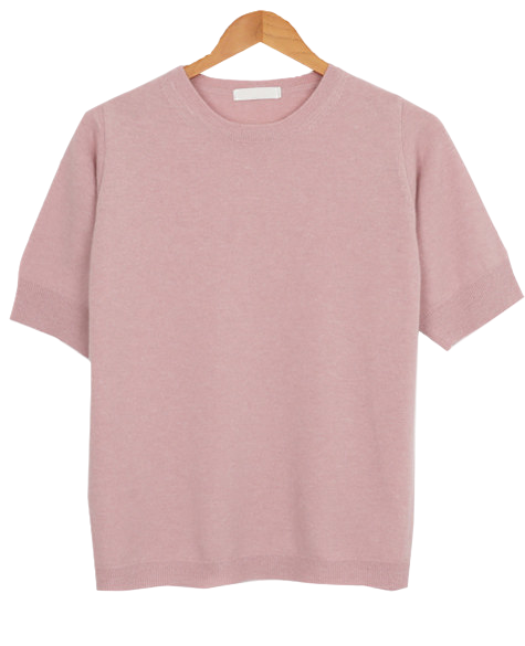 Moa wool short sleeve knit