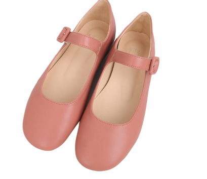 Roze buckle loafers