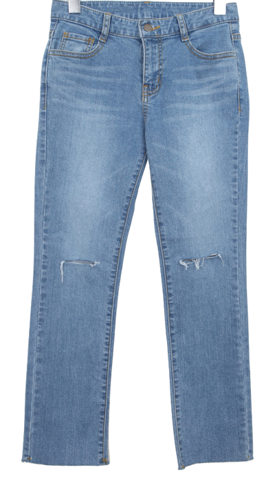 Sheepskin knee denim P