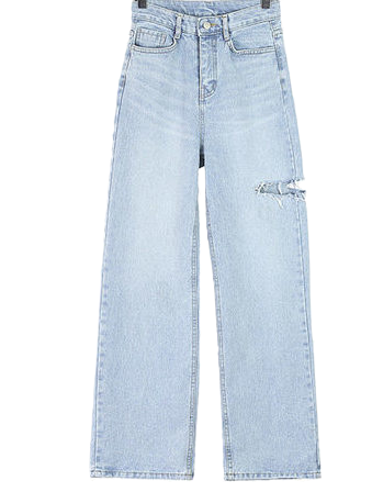 Cutoff denim pants