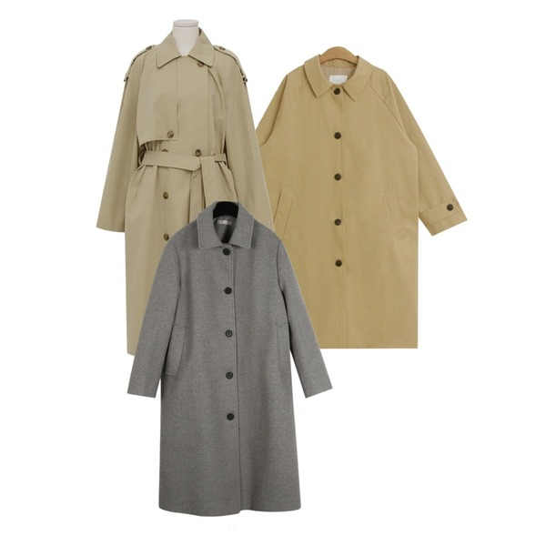 daily monday Modern slim single coat,From Beginning Latte double trench coat_K (size : free),TODAY ME 피셔 트렌치 코트등을 매치한 코디