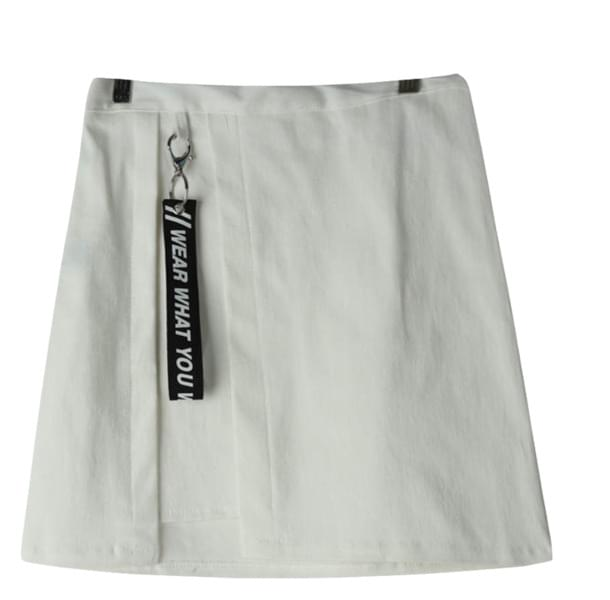 Wanted label wrap skirt