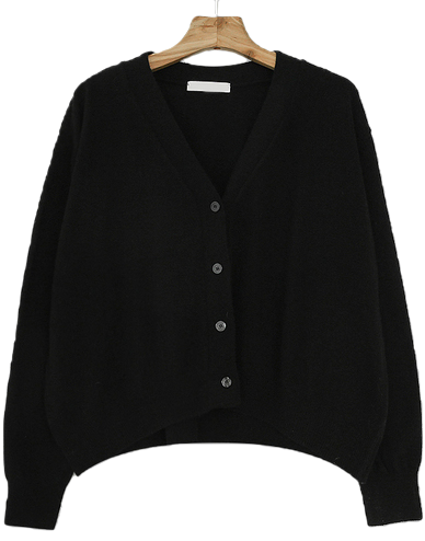 A-line Lamb Wool Cardigan