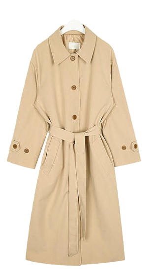 a single button trench coat