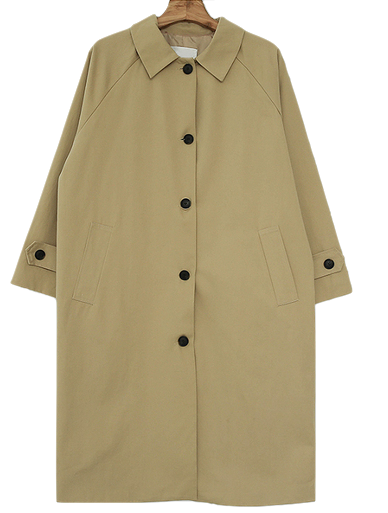 Cotton Single Trench Coat
