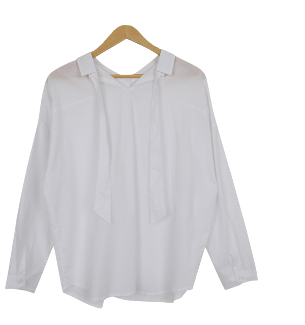 Reverse ankle ribbon shirt