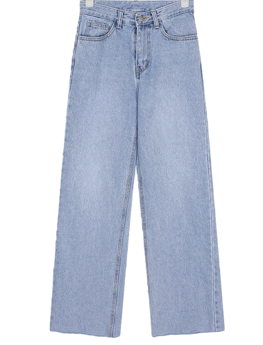 rush long denim pants